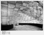Early construction of cubed structures featured in the World of Tomorrow Exhibit, Seattle World's...
