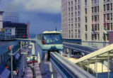 Alweg Monorail in operation, Seattle World's Fair, September, 1962