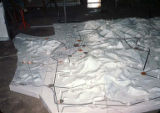 Relief map of Washington State under construction for the Pavilion of Electric Power exhibit at...