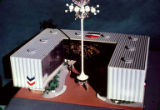 Standard Oil Pavilion, architectural model, Seattle World's Fair, January, 1962