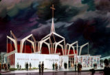 Christian Witness Pavilion, artist's rendering, Seattle World's Fair, January, 1962