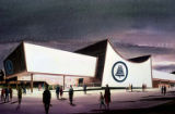 Bell System Exhibit, artist's rendering, Seattle World's Fair, January, 1962