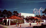 IBM Garden Pavilion and United States Science Pavilion, artist's rendering, Seattle World's Fair,...