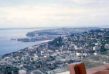 Elliott Bay from the observation deck of the Space Needle, Seattle World's Fair, September, 1962