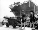 Cannons firing during the opening day celebration at the Seattle World's Fair, April 21, 1962