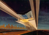 SAFEGE Monorail test track, artist's rendering, Paris, France, January , 1960