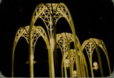 Arches outside of the U.S. Science Pavilion at night, Century 21 Exposition, 1962