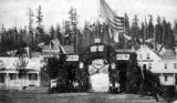 Fourth of July Pavilion, Pioneer Place, Seattle, 1865