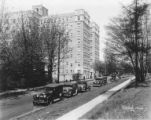 Malloy Apartments looking north on 15th Ave NE, University District, ca. 1928