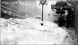 2nd Ave. after a snowstorm, winter 1916