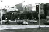 Northeast corner of Alaskan Way and Spring St. looking towards the Seneca St. offramp, Seattle,...