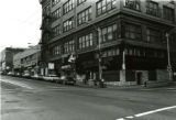Businesses at the northeast corner of 1st Ave. and Union St., Seattle, December 13, 1981