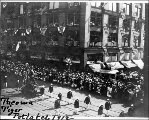 Seattle Potlatch Parade showing Tacoma Tiger float, 1912