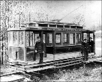 Electric streetcar of the Seattle Consolidated Street Railway Co., ca. 1894