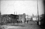 Aftermath of the Seattle fire of June 6, 1889 showing 1st Ave. S.