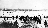 Ice skaters on Lake Union, n.d.