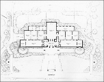 Seattle Art Museum architectural plan of main floor, ca. 1932