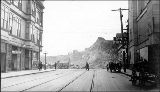 3rd Ave. between Pike and Pine St. during the Denny Hill regrade, ca. 1909