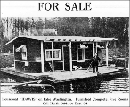 Houseboat for sale on Lake Washington, 1911