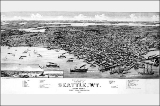 Map of Seattle, 1884