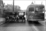 Seattle Municipal Railway trolley looking north on Bellevue Ave. just south of Denny Way, ca. 1921