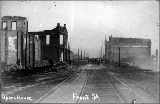 Aftermath of the Seattle fire of June 6, 1889 showing the ruins of Frye's Opera House at Northeast...