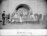 Seattle Seminary, students and teachers, 1897