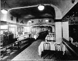 Chauncey Wright's Bakery and Restaurant dining room, 1918