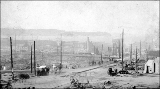 Aftermath of the Seattle fire of June 6, 1889 looking west toward waterfront