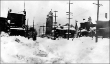 9th Ave. from James St. after a snowstorm, January 1916