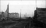 Aftermath of the Seattle fire of June 6, 1889 looking south on 1st Ave. from Madison St.