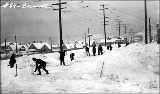 Fremont District after a snowstorm, winter 1916