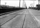 Seattle Municipal Railway tracks and streetcar, N. 34th St., April 4, 1921
