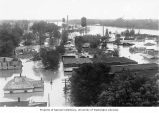 Business and industrial area flooded by the White River during the flooding of the White and Cache...