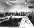 Japanese men and women at a banquet, October 5, 1951