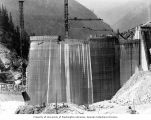 Face of Diablo Dam under construction on the Skagit River, Washington State, ca. 1929-1932