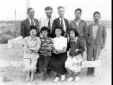 Group of the Cost Accounting Unit, Minidoka Relocation Center, Japanese evacuees, ca. 1943-1945