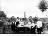 Group picnic on Mercer Island, 1899-1900