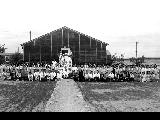 Hospital staff infront of the hospital, Minidoka Relocation Center, ca. 1943-1945