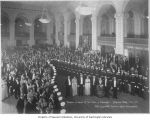 Reception for Governor Lister in the California Building, Panama Pacific International Exposition,...