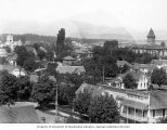 Bird's eye of McMinnville, Oregon, taken from the water tower, ca. 1908