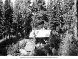 Cabin construction at Nordrum Lake, ca. 1940s