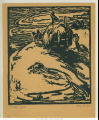 "Woodcut print entitled ""The Last Load"" by Helen Neilson Rhodes, ca. 1921"