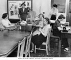 Home Economics class on sewing, Mountain View Sanatorium, Tacoma, n.d.