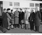 Pierce County officials and Tuberculosis League of Pierce County officers handing a check to...