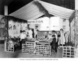 Children examining the Washington Tuberculosis Association Healthland exhibit while nurses examine...