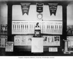 Pierce County Tuberculosis League poster display at Eatonville High School, Eatonville, May 7, 1926