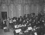 Charles Burnett conducting the orchestra of Musicians Association, Local 76, Seattle, n.d.