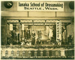 "Woman identified as possibly ""Mrs. Tanaka"", owner of the Tanaka School of Dressmaking in..."