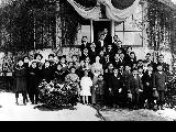 Japanese Language School children and teachers outside the Japanese Consulate, Seattle, 1911
